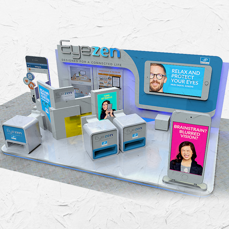 Design Booth Eyezen Indonesia